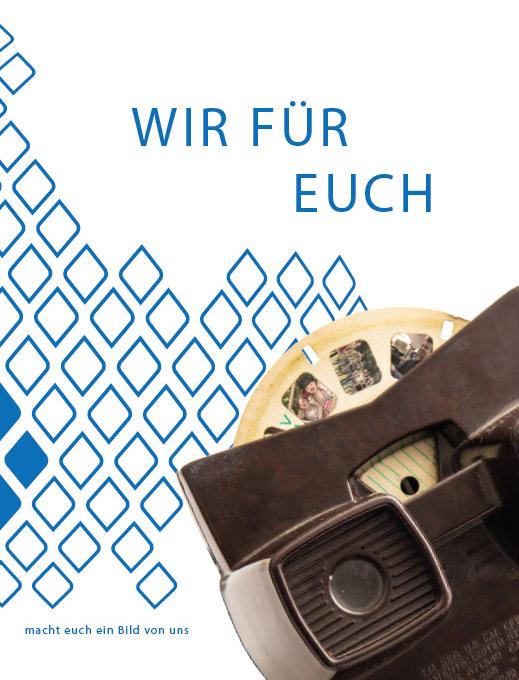 """Titelseite Imagebroschüre """"WIR FÜR EUCH"""", Bezirksjugendring Oberbayern, 2015"""