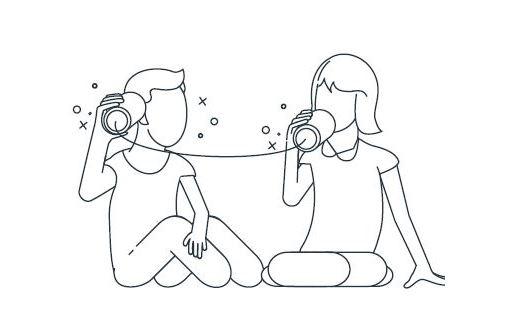 Kommunkation durch Dosentelefon