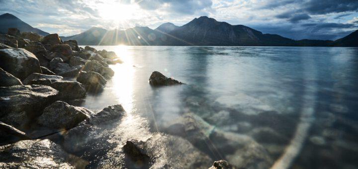 Walchensee im Sonnenschein