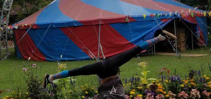 ZAMMA Titelbild 2019 Zirkuszelt und Artist