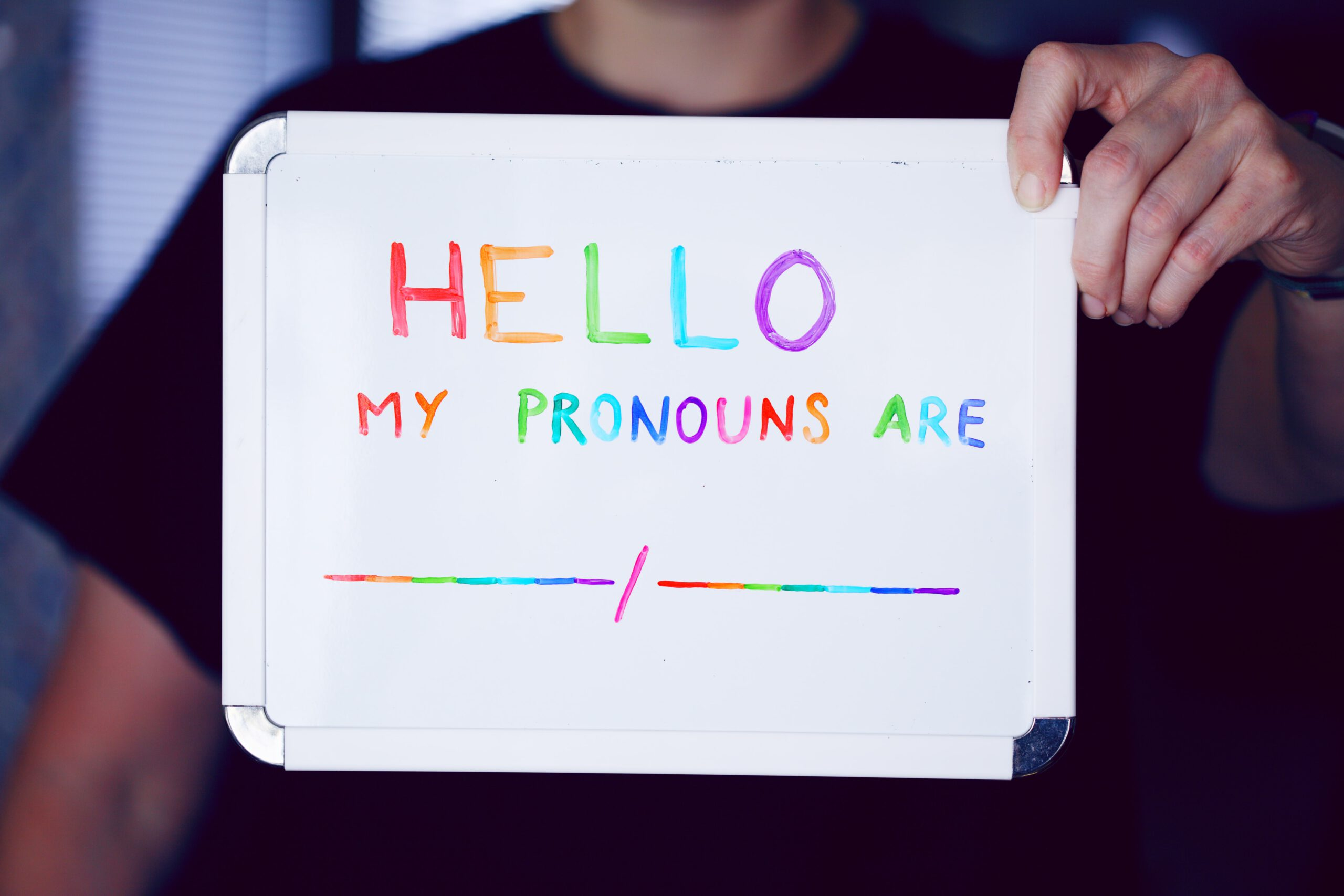 Bild: Nenne dein Pronomen