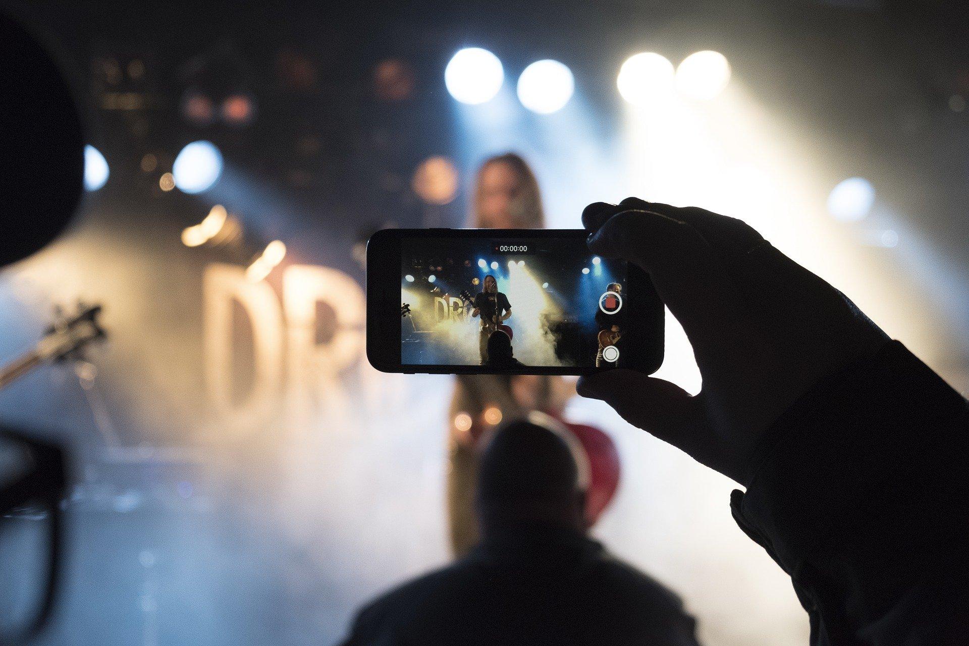 Konzertaufnahme mit Smartphone