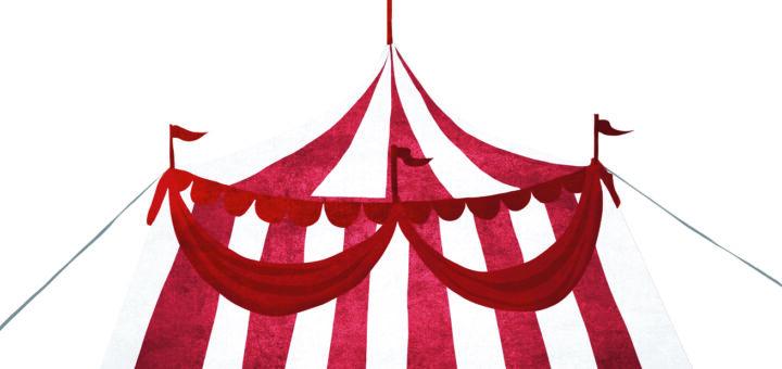 Illustration eines Zirkuszelts